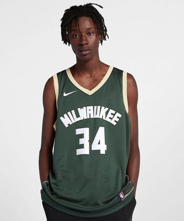 Resim Nike Milwaukee Bucks Giannis Antetokounmpo Swingman Jersey Icon Edition NBA